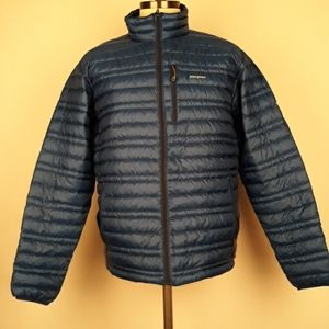 PATAGONIA Goose Down Blue Puffer Sz L Mens Jacket